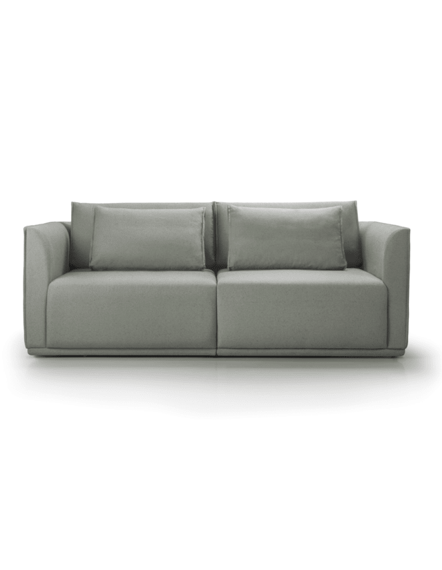 Sofa Doble cinza design