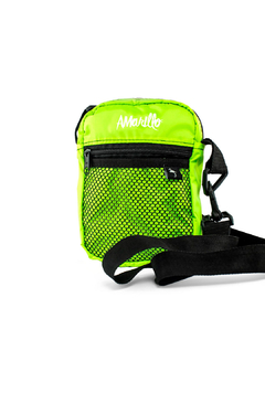 Amarillo Shoulder Bag Nylon Verde Neon