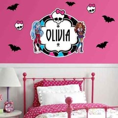 Kit Vinilo Monsterhigh Con Tu Nombre! Draculaura