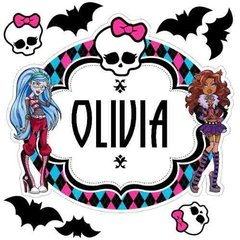 Kit Vinilo Monsterhigh Con Tu Nombre! Draculaura en internet