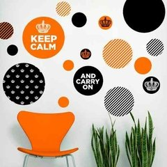 Kit De Vinilo Decorativo Autoadhesivo Keep Calm en internet