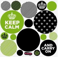 Kit De Vinilo Decorativo Autoadhesivo Keep Calm - tienda online