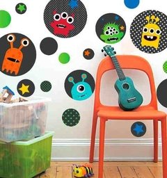 Kit De Vinilo Decorativo Autoadhesivo Monstruos