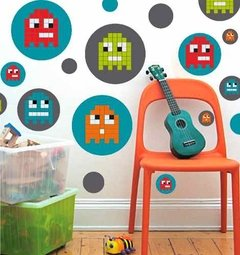 Kit De Vinilo Decorativo Autoadhesivo Pixel Monster