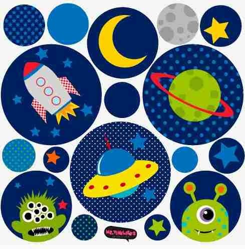 Kit De Vinilo Decorativo Autoadhesivo Little Alien