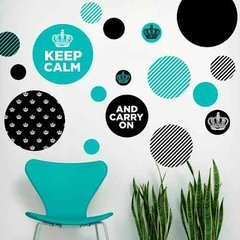Kit De Vinilo Decorativo Autoadhesivo Keep Calm