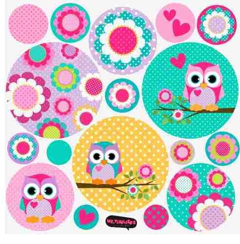 Kit De Vinilo Decorativo Autoadhesivo Little Owl en internet