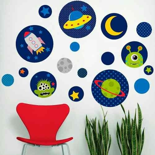 Kit De Vinilo Decorativo Autoadhesivo Little Alien - comprar online
