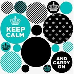 Kit De Vinilo Decorativo Autoadhesivo Keep Calm - comprar online