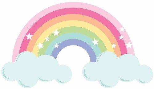 Vinilo Decorativo Arco Iris Pastel Con Tu Nombre Inicio Bebés Vinilo Decorativo Arco Iris Pastel Con Tu Nombre