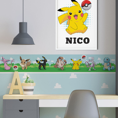 Guarda Pokemon Pikachu pokebola cuartos infantiles deco DIY decoracion
