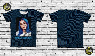 Camisa - Billie Eilish - Cry on Blue Pat...