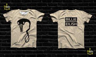 Camisa - Billie Eilish - Monster Beige E...