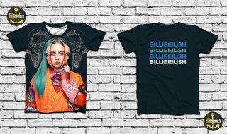Camisa - Billie Eilish - Three Faces on...