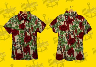 Camisa de botão - Real Roses big Sean