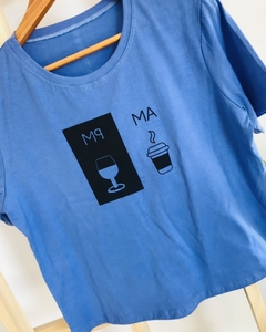 Remera AM PM Azul - comprar online
