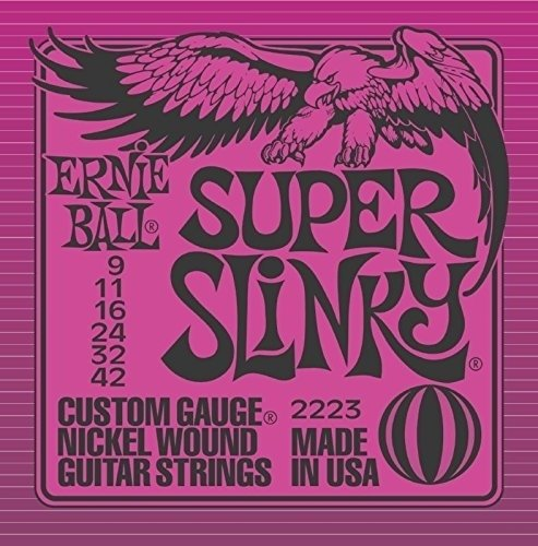 Ernie Ball Super Slinky Nickel Wound .009 - .042 - Encordoamento p/ Guitarra
