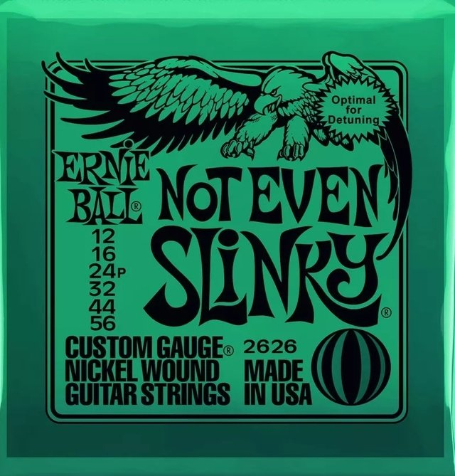 Ernie Ball Not Even Slinky 2626 Nickel Wound .012 - .056 - Encordoamento p/ Guitarra