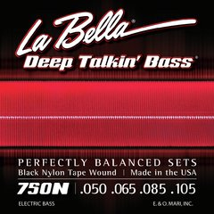 Encordoamento La Bella 750n Black Nylon Tape Wound .050