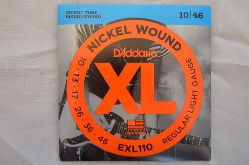 Daddario Xl Exl110 - Regular Light Gauge - 10/46 - Guitarra