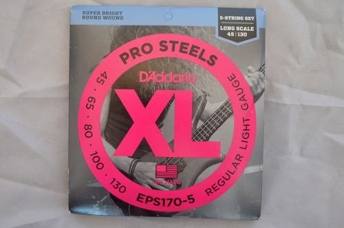 Daddario Pro Steels Xl Regular Light - 45/130 - Contrabaixo