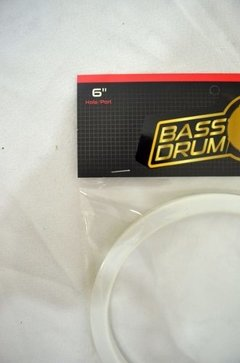 Hole/port Bass Drum's - Molde P/ Furo No Bumbo - Branco 6 - comprar online