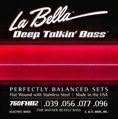La Bella Deep Talkin' Bass 760FHB2 - Encordoamento Flat Wound p/ Baixo