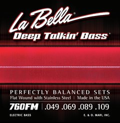 La Bella 760FM Flat Wound With Stainless Steel .049