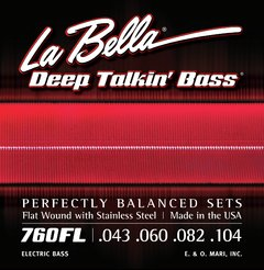 La Bella 760FL Flat Wound With Stainless Steel 0.43