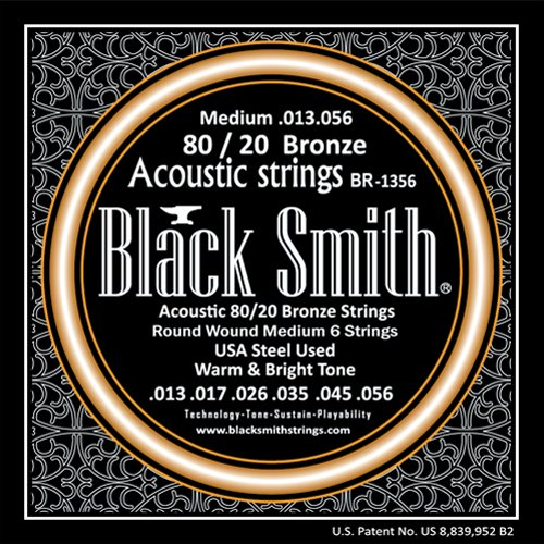 Black Smith 80/20 Bronze BR-1356 - Encordoamento p/ Violão