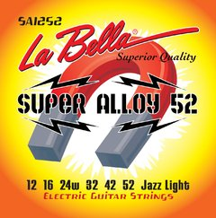 Encordoamento Guitarra La Bella Super Alloy Jazz Light .012 SA1252
