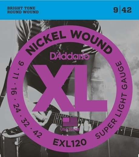Daddario XL Nickel Wound  EXL 120 .009 - .042 - Encordoamento p/ Guitarra