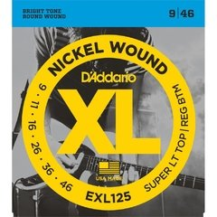 Encordoamento Daddario EXL125 Nickel 9-46 Super Light Top