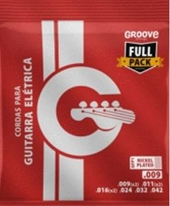 Groove GFP1 Full Pack .009 - .042 - Encordoamento p/ guitarra