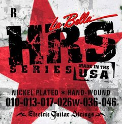 Encordoamento p/ Guitarra  La Bella HRS-R Nickel Rounds (.010 - .046)
