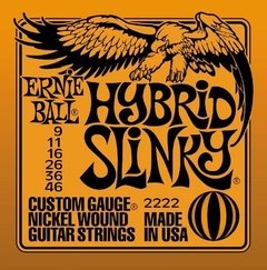 Encordoamento p/ guitarra Ernie Ball Nickel Hybrid Slinky .009 - .046