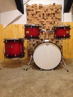 Bateria (Shell Pack) Pearl Sessions Series Gloss Barnwood Brown - 22/ 16/ 13/ 12 - loja online
