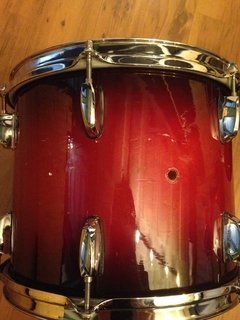 Bateria (Shell Pack) Pearl Sessions Series Gloss Barnwood Brown - 22/ 16/ 13/ 12