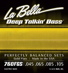 La Bella Deep Talkin' Bass Gold Flats 760FGS - Encordoamento Flat Wound p/ Baixo