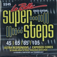 La Bella 4c Super Steps - Stainless Steel Round Wound - SS45 - .045