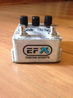 Pedal Efx Custom Effects - Punk Drive (usado) - Solsete Musical