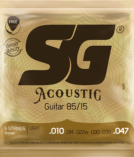 SG Strings Acoustic Guitar Bronze Light .010 - .047