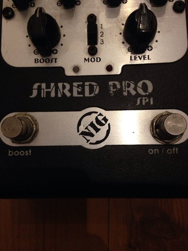 Pedal Nig Shred Pro Sp-1 - Pre-amp - Solsete Musical