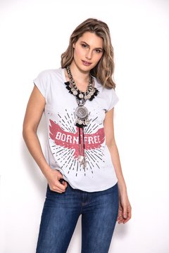 REMERA BEST BORN GRIS