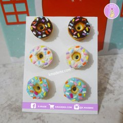 Mini Donuts | 3 Pares | Aretes | Earrings