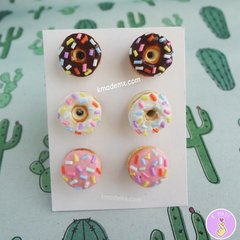 Mix Donuts | 3 Pares | Aretes | Earrings