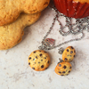 SET Collar y Aretes | Galletas con chispas de chocolate