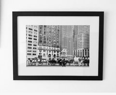 Rockefeller Center y New York City 48x62. Marco laqueado mate - comprar online