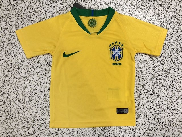 0d04fb7dbc2a3 Kit infantil de jogo Brasil I 2018 19 - versão torcedor