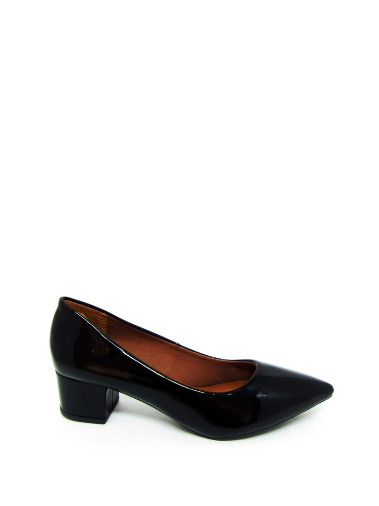 f9562cb47 Sapato Feminino Social Salto Baixo Quadrado Preto